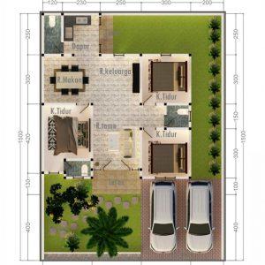 Desain Rumah Jasmine City Garden