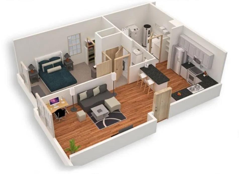 Desain Area Dalam Rumah Type 36