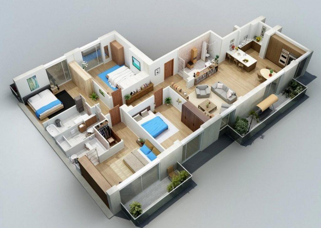 Desain Rumah 2 Lantai 4 Kamar