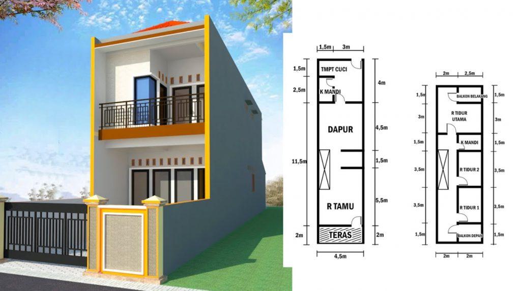 Desain Rumah 2 Lantai di Lahan Sempit