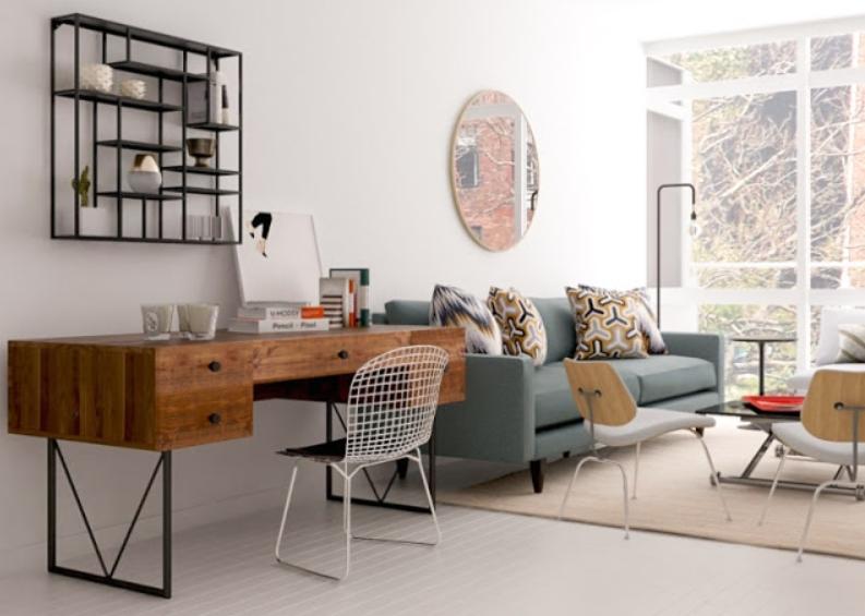 Desain Rumah Dengan Ditambahkan Ruang Kerja