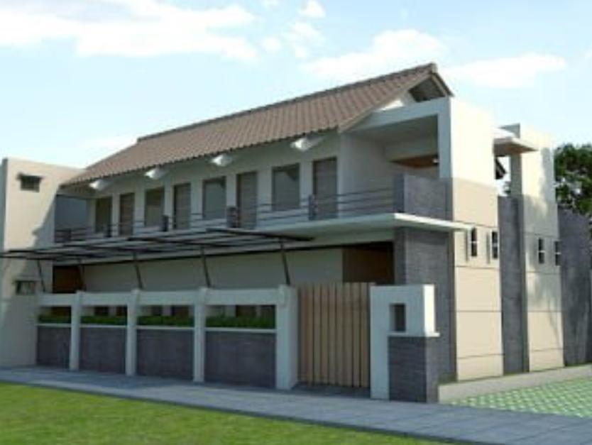 Desain Rumah Kost Minimalis 2 Lantai dengan 20 Kamar