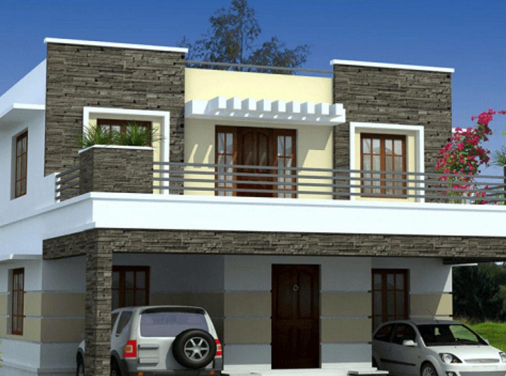 Desain Rumah Minimalis 2 Lantai Dengan Balkon yang Luas
