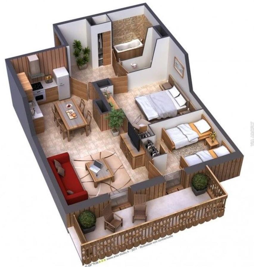 Desain Rumah Minimalis 2 Lantai dengan 3 Kamar Tidur