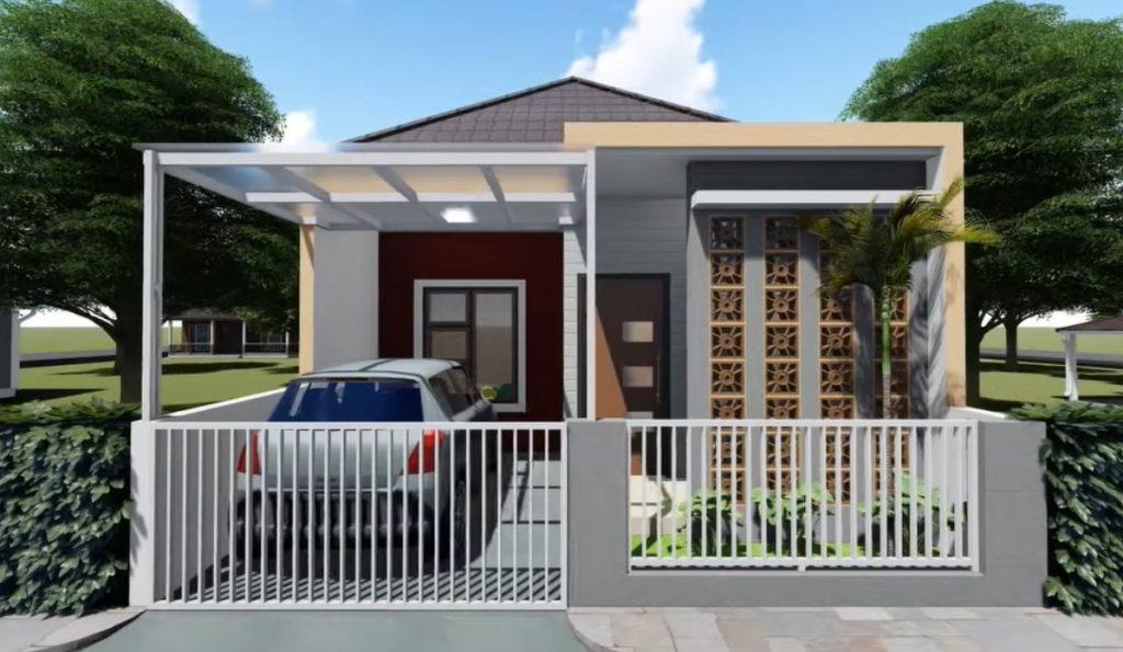 Desain Rumah Sederhana 6x12 dengan Teras