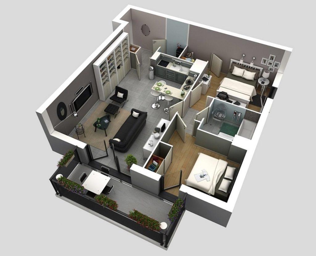Konsep Desain Rumah Minimalis 1 Lantai Clean Interior