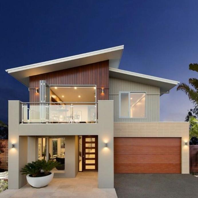 Konsep Desain Rumah Minimalis 1 Lantai Kombinasi Kayu