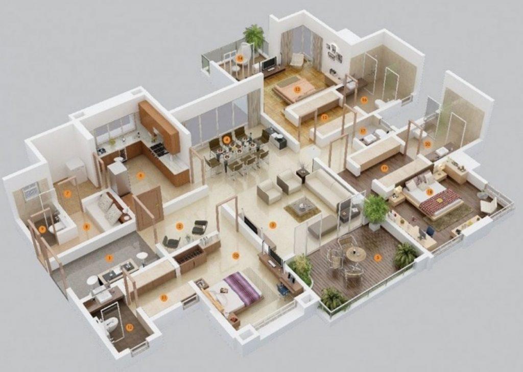 Rumah Minimalis dengan Banyak Kamar