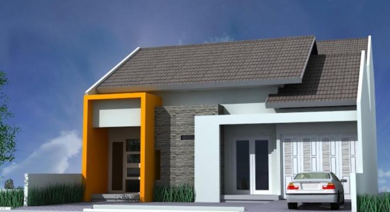 Rumah Minimalis dengan Halaman sebagai Garasi