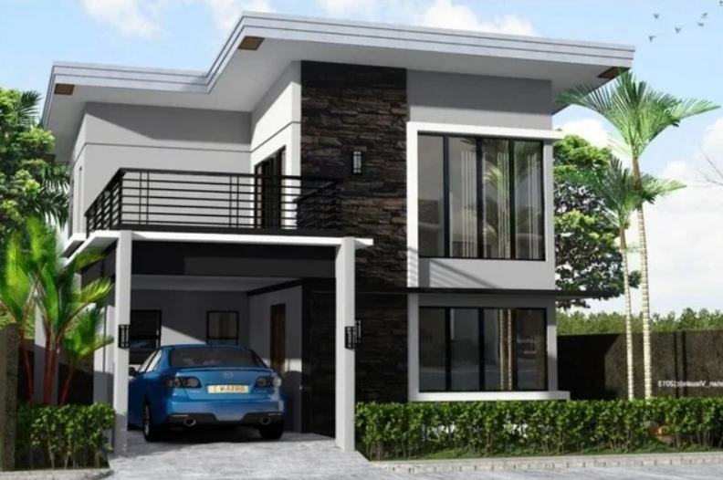 Desain Rumah 2 Lantai Sederhana dan Biaya 100 Juta