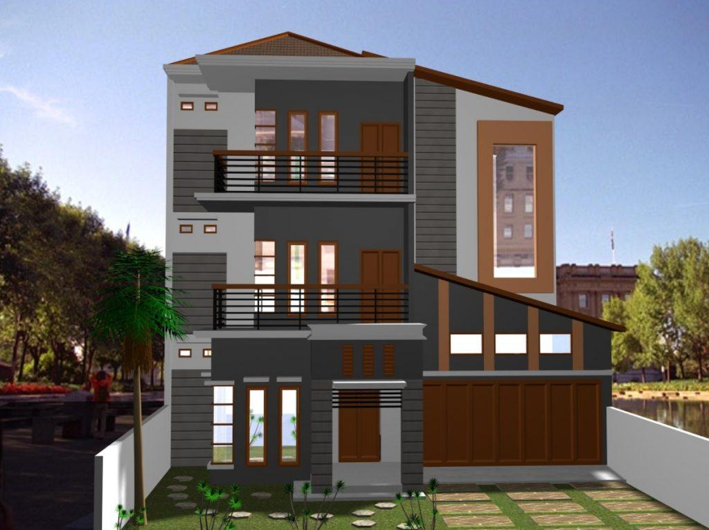 Desain Rumah 3 Lantai Tipe 36