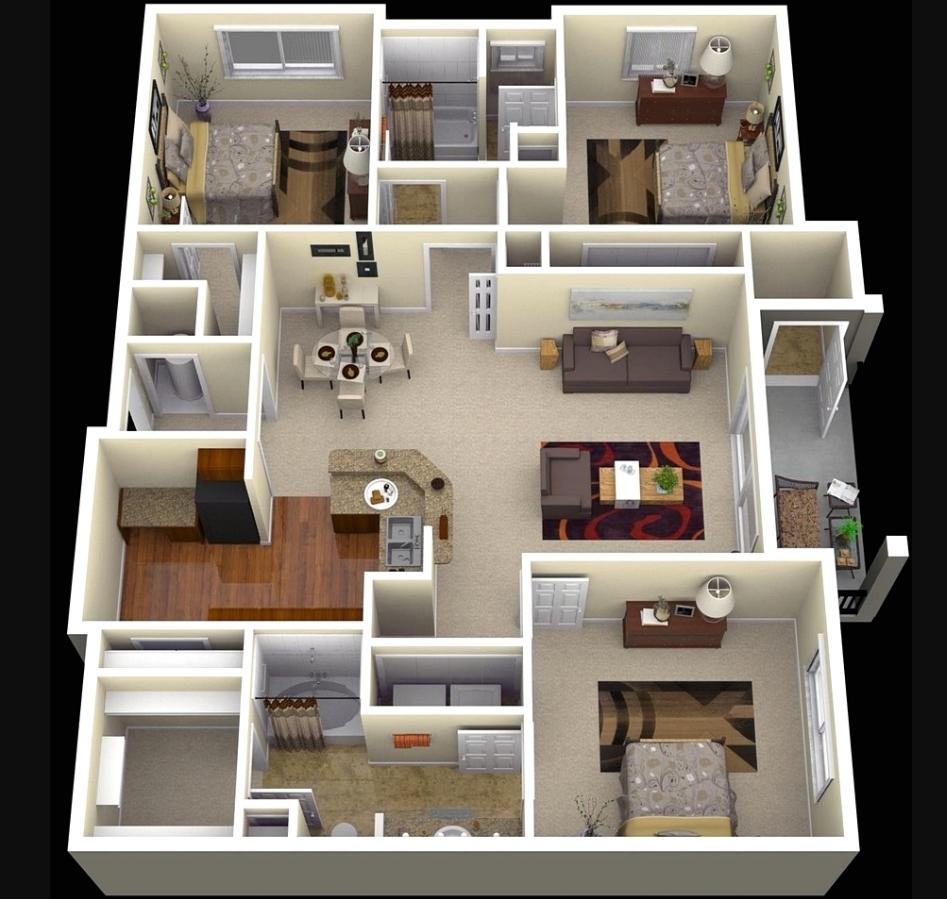 Desain Rumah 3 Lantai dengan Luas 7 x 9 m2