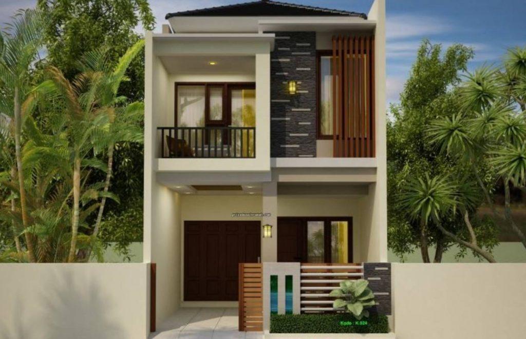 Desain Rumah Berukuran 6 x 12 Dengan 2 Lantai