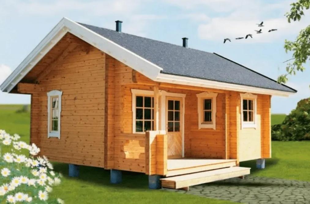 Desain Rumah Kayu Minimalis Type 36