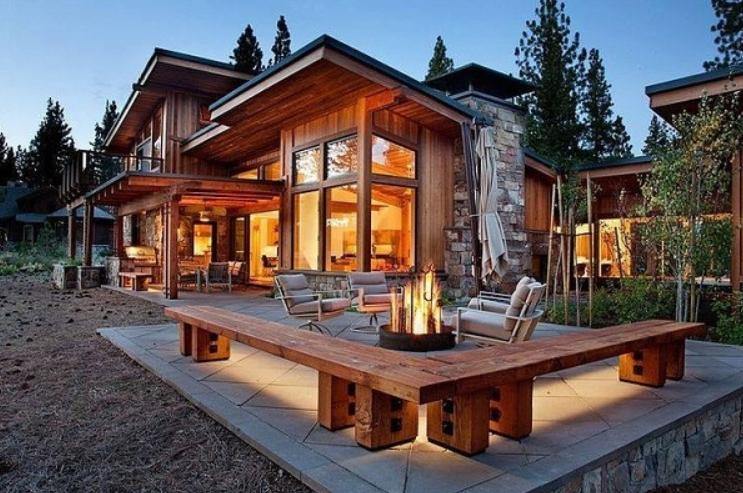 Desain Rumah Kayu Modern Mewah