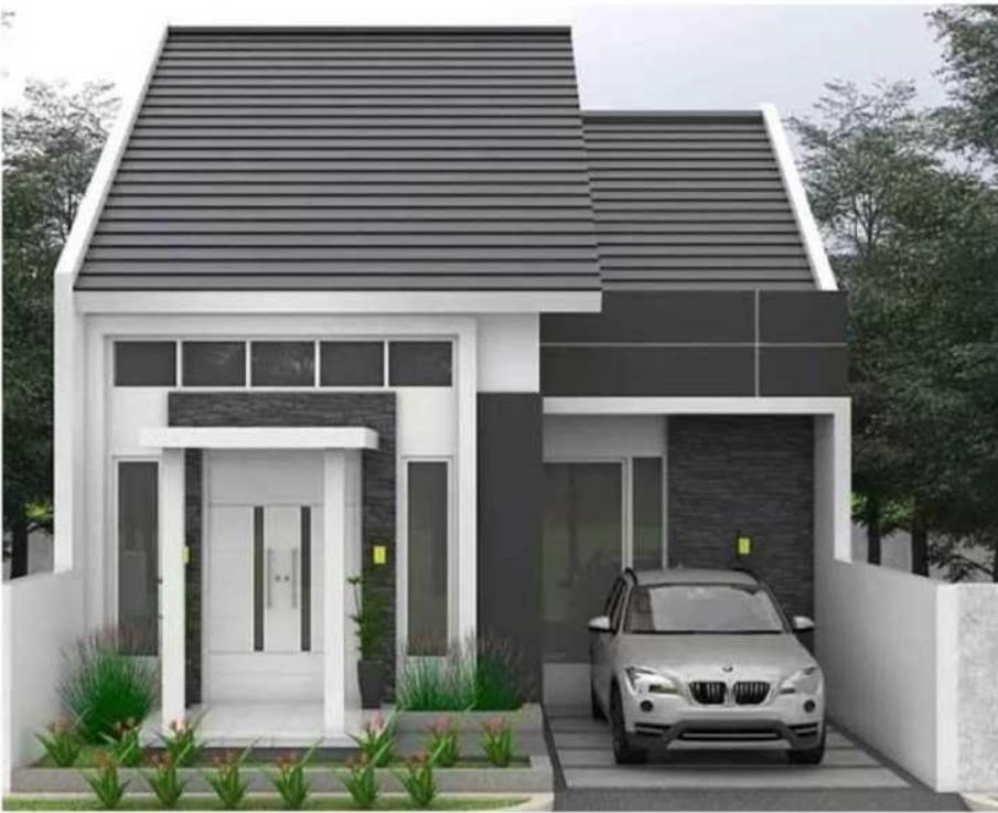 Desain Rumah Minimalis 6x12 Tampak Depan