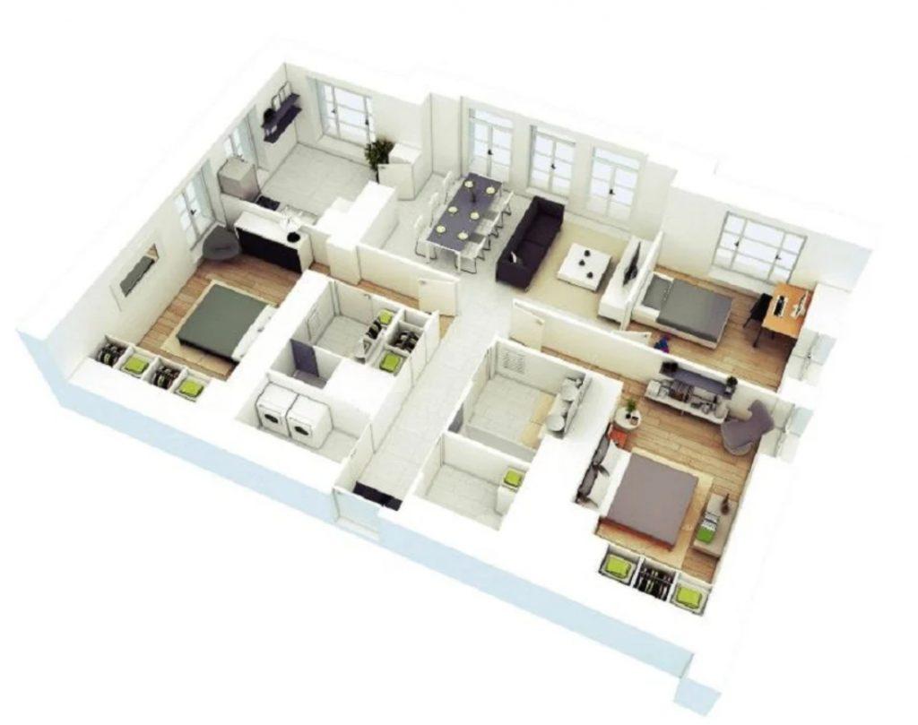 Rumah Sederhana 6x9 3 Kamar