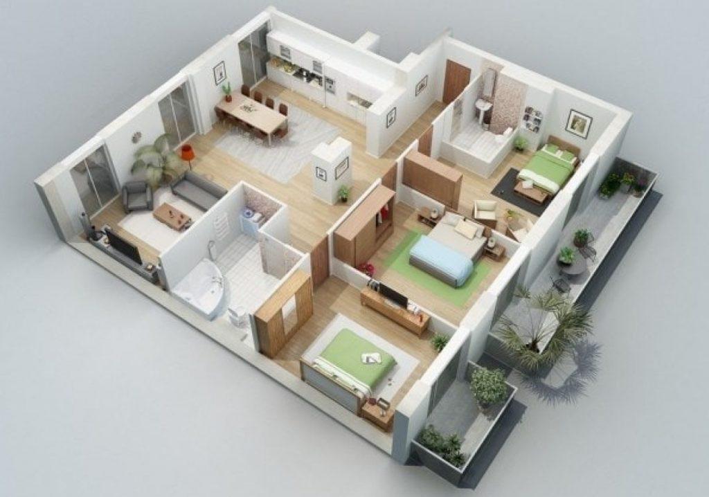 Rumah Type 45 dengan 3 Kamar